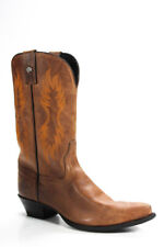 Harley Davidson Womens Leather Embroidered Cowboy Boots Brown Size 6.5