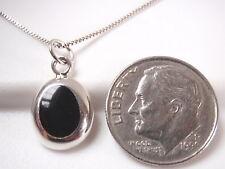 Black Onyx Oval 925 Sterling Silver Necklace Corona Sun Jewelry