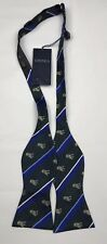 Men's Bow Tie Untied Green Dogs Silk Adjustable Fits All Neck Sizes NEW