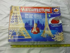 VINTAGE MATCHITECTURE EIFFEL TOWER MODEL BUILDING KIT NEW IN THE BOX COMPLETE