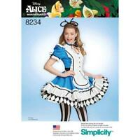 Simplicity Pattern 8234 Misses' Alice in Wonderland Cosplay Costume  DISNEY