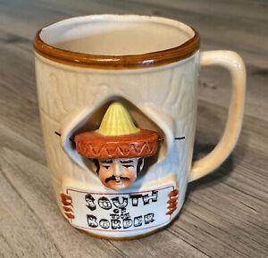 South Of The Border Souvenir Coffee Mug Cup Swinging Head Sombrero