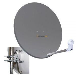 Megasat 80cm Sat Spiegel Satelliten Antenne Schüssel Stahl anthrazit 80 cm