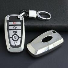 Smart Car Key Chain Ring Case Cover Fob Protector Accessories For Ford Silver