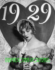 LEILA HYAMS 8x10 Lab Photo 1929 Sexy NEW YEAR Glamour Portrait, SOFT FOCUS