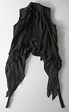 gareth pugh BLACK BIKER vest with silk panels it46 usa L NEW
