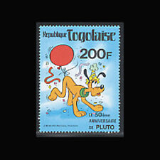 Togo, Sc #1070A, MNH, 1980, Disney, Pluto and party hat, 1018