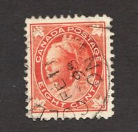 #72 - Canada - 1897 -  10 Cent - Used  - F/VF - superfleas
