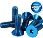 New Nrg 6 Pieces Steering Wheel Screws Allen Key Upgrade Conical Sws-100bl