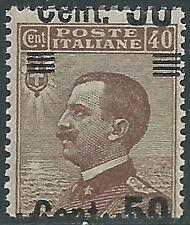 1923-27 REGNO EFFIGIE SOPRASTAMPATO 50 SU 40 CENT VARIETà MNH ** - P49