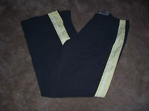 Womens NIKE Gray with Yellow/White Trim Athletic Style Pants SizeLarge 12-14