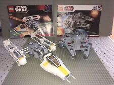 LEGO Star Wars Y-Wing 7658 and Millennium Falcon 7778 sets used