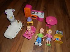 Fisher Price Loving Family My First Dollhouse Dolls People Mom Dad Baby Girl
