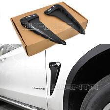 2x Glossy Black Marker Fender Side Body Vent Trim Decor For BMW X5-M F15 14-17