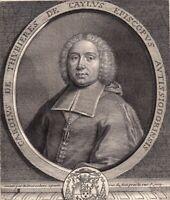 Portrait XVIIIe Charles De Caylus De Thubières De Caylus Evêque Janséniste 1750