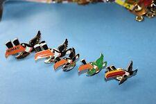 5 X rare Guinness toucan trop birds flying tie or lapel enamel pin/ Pin Badge.