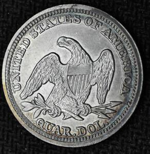 1858 - Liberty Seated Quarter - Choice BU - Type 2, No Motto