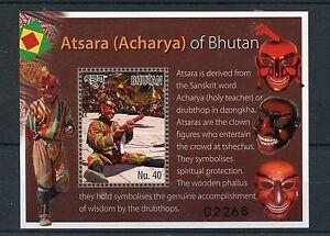 Bhutan 2015 MNH Atsara Acharya 1v S/S Drubthop Clown Masks Tschechus