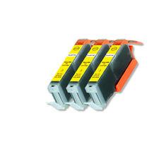 3 Pk Yellow Ink Cartridge w/ LED for CLI-271XL MG5720 MG5721 MG6820 MG7720