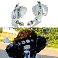 Chrome Motorcycle Rearview Mirrors for Harley Davidson Heritage Softail Fatboy H