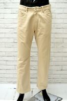 Pantalone Uomo CARRERA Taglia Size 33 Pants Jeans Man Cotone Gamba Dritta Beige