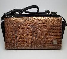 Miche Classic Handbag Magnetic Shell Cover Brown Copper Faux Reptile Leather