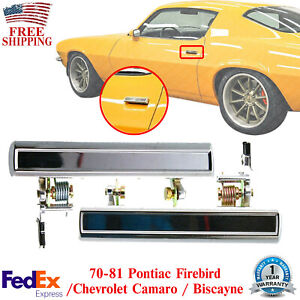 Front Exterior Door Handle Chrome For 70-81 Pontiac Firebird / Camaro / Biscayne