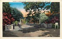CLARA H. GIRVIN BRIDGE, LINCOLN PARK, OKLAHOMA CITY, OK POSTCARD