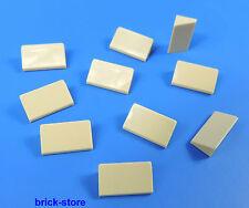 LEGO Nr- 4624086 / 1x2 Tuiles en béton / bloc incliné Carreau beige / 10-pc