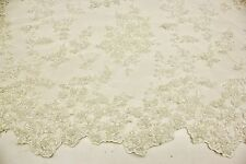 Special Design Hand Made Heavy Beaded Embroidery Lace Fabric, Bridal Lace