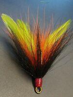 2 pack 5/0 Mustad Dressed Musky Pike Bucktail Teaser Treble Hooks - Gr Or Black