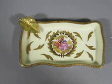 Vintage Rehausse & Main Limoges France Tray w/ Gilt Brass Detail/Courting Couple