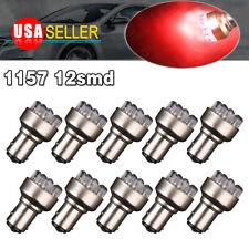 10x Red 1157 BAY15D 1152 12SMD Side Truck Marker Brake Stop LED Light Bulbs 12V
