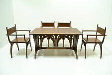 Set Gothic Table & 4 CHAIRS Dantesca Furniture for dolls 1:6 12 in Barbie FR NEW