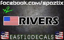 (2) USA Racing Drift Driver Co.Driver Rally Race Name Sticker