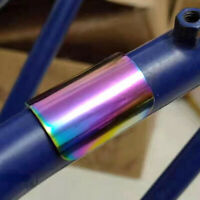 Folding Bike Frame Sticker Electroplating Protector for Brompton Bicycle ReW9E4