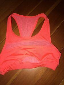Womens Sports Bra Pure & Simple By Anthropologie Size XS Orange Racer Back