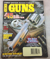 Combat Shotgun Mauser Rifle Tactical .45 Pistol 1997  Guns Magazine Vintage