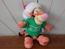 SANTA Cappello/JUMPER TIGGER Beanie Soft Toy WINNIE THE POOH Natale Disney Store