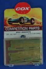 COX 1:24 SCALE COMPETITION SLOT CAR RACING CHASSIS PART BRASS BODY BRACKETS 4107