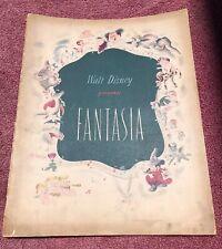 Vintage Walt Disney Fantasia Souvenir Program Book 1940