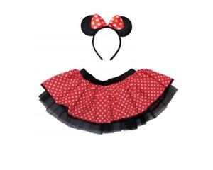 Mouse Tutu Skirt Red White Polka Dots Minnie Fancy Dress Book Week Hen Party