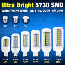 Ultra Bright 5730 SMD LED Corn Bulb Lamp Cool/Warm Light 110V 220V G9/E14/E27 B