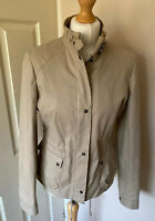 Reiss Jacket  Biker Style Shower Proof Uk 10 Beige