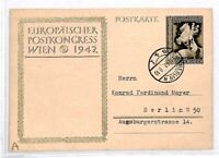 Germany Postcard 1942  Wien Berlin {samwells-covers}CU48