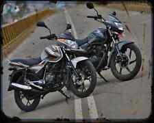 Bajaj Discover 125M 14 02 A4 Metal Sign moto antigua añejada De