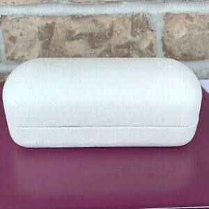 Oakley leather sunglass case white hard clam shell