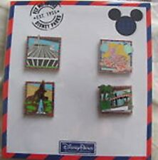Disney-Fly me to the Disney Parks 4 Pin Booster Set- New and Sealed- PIN#113919