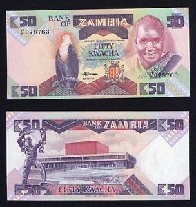 Zambia 50 kwacha 1986 (88) FDS-/UNC-  A-07