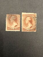 US Stamp Scott #210 - 1883 2c Washington Lot Of 2